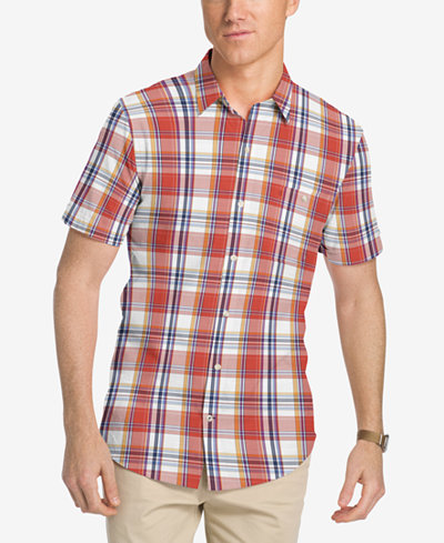 Izod men 39 s saltwater dockside checked cotton shirt for Izod button down shirts