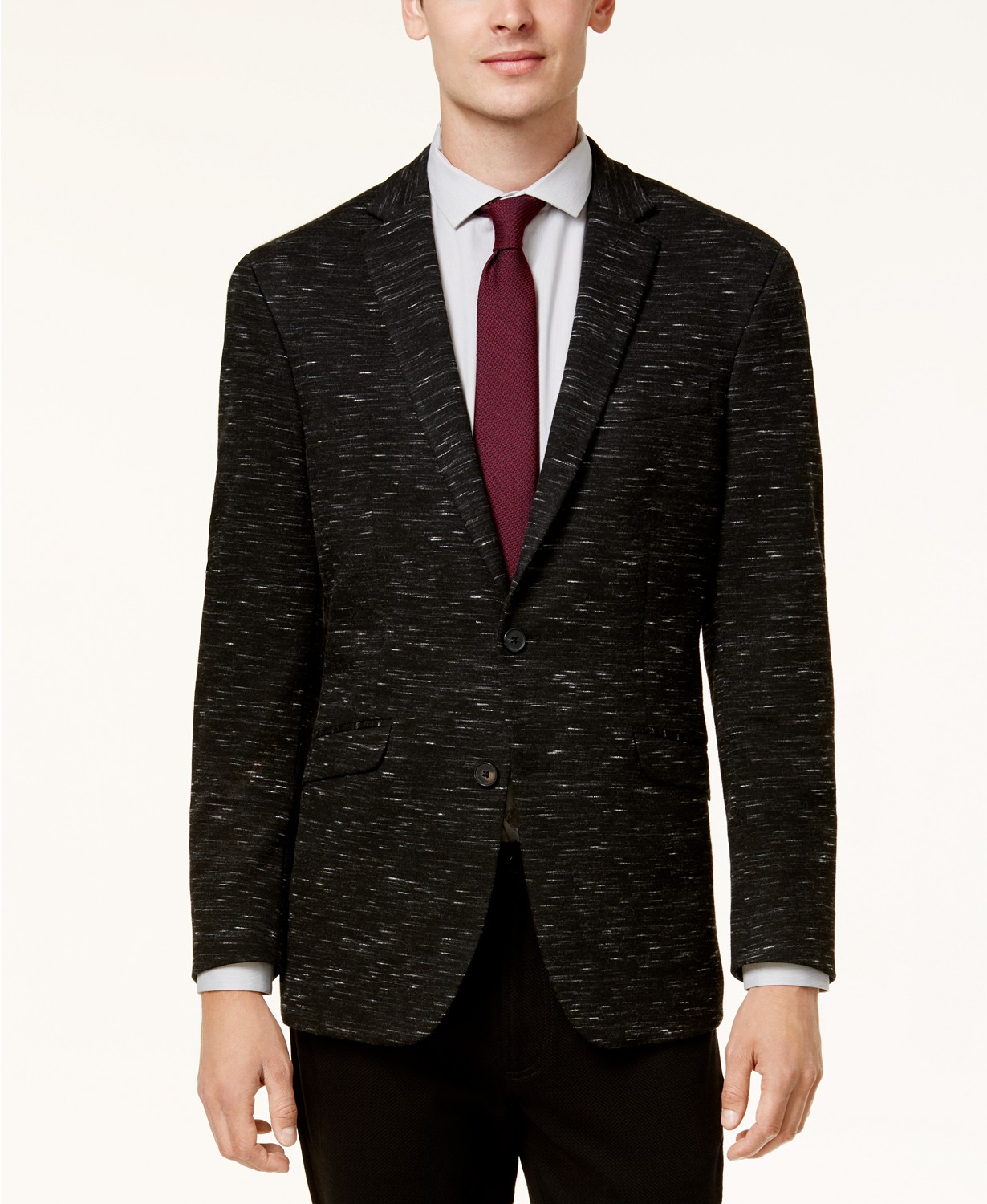 Kenneth Cole Reaction Men's Slim-Fit Dark Gray Soft Tailored Sport Coat + $3 Charity Savings Pass