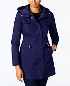 Cole Haan Signature Packable Hooded Raincoat