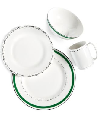 This item is part of the kate spade new york Dinnerware Union Square Green Collection  sc 1 st  Macyu0027s & kate spade new york Union Square Green Dinner Plate - Dinnerware ...