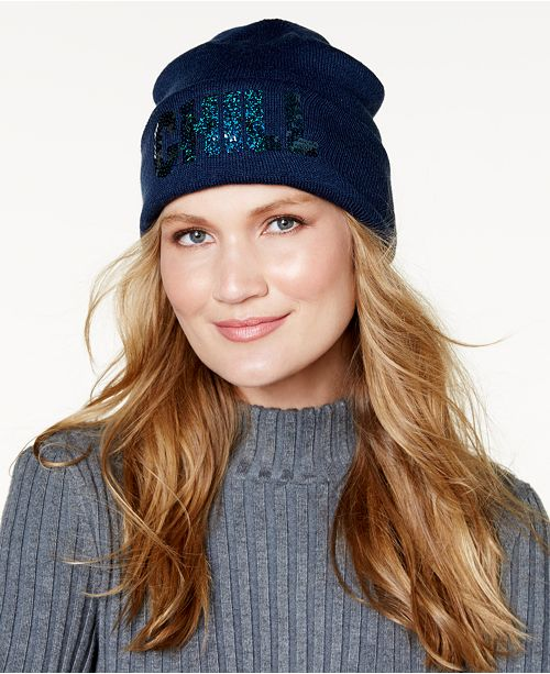 Steve Madden Chill Cuff Beanie - Handbags   Accessories - Macy s 174f43a9000