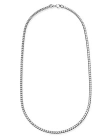 "24"" Franco Chain Necklace in Sterling Silver"