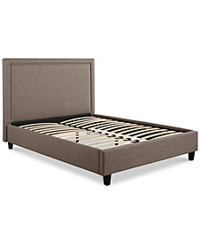 Raquel Upholstered Platform Bed - Full, Quick Ship