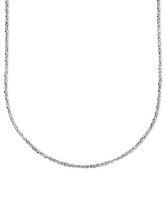 "14k White Gold Necklace, 20"" Perfectina Chain (1-1/8mm)"