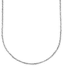 "Italian Gold 14k White Gold Necklace, 20"" Perfectina Chain (1-1/4mm)"