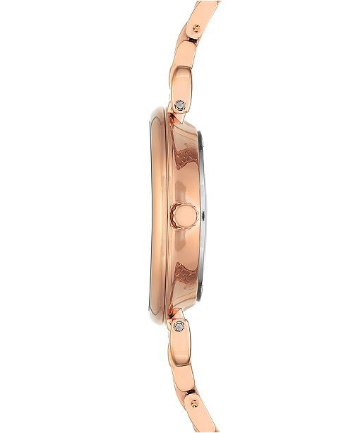 Anne Klein Women S Rose Gold Tone Bracelet Watch 30mm