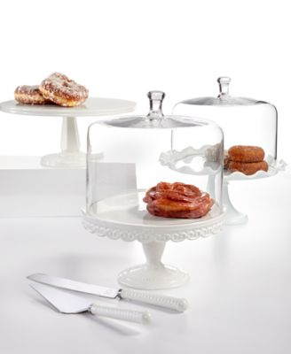 Serveware, Embossed Cake Stand with Dome