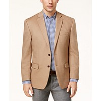 Lauren Ralph Lauren Cashmere-Blend Men's Classic-Fit Sport Coat (Camel / Dark Grey / Bright Navy)