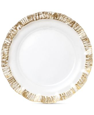 Rufolo Glass Gold Collection Service Plate/Charger