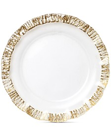 Vietri Rufolo Glass Gold Collection Service Plate/Charger