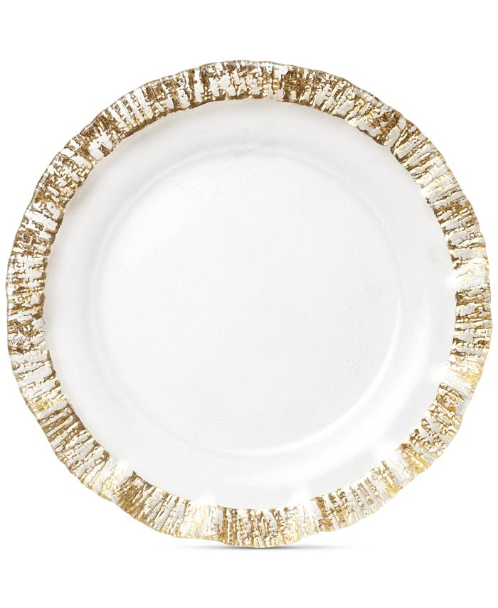 VIETRI - Rufolo Glass Gold Collection Service Plate/Charger