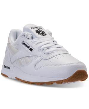 3c2a50ae98e1 Reebok Men S Classic Leather Estl Casual Sneakers From Finish Line In  White Black Gum