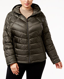 MICHAEL Michael Kors Plus Size Chevron Packable Puffer Coat
