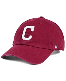 '47 Brand Cleveland Indians Cardinal and White CLEAN UP Cap