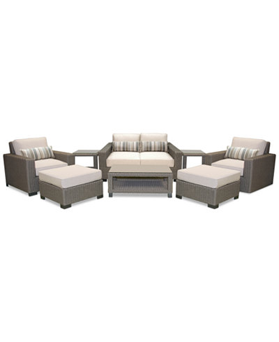 Del Mar 8-Pc. Set (Loveseat, Club Chair, Swivel Club Chair, 2 Ottoman, Coffee Table & 2 End Tables), Created for Macy's