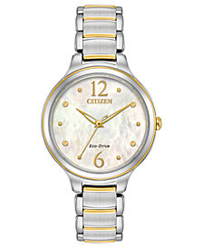 Citizen Eco-Drive Women's Citizen L Two-Tone Stainless Steel Bracelet Watch 32mm