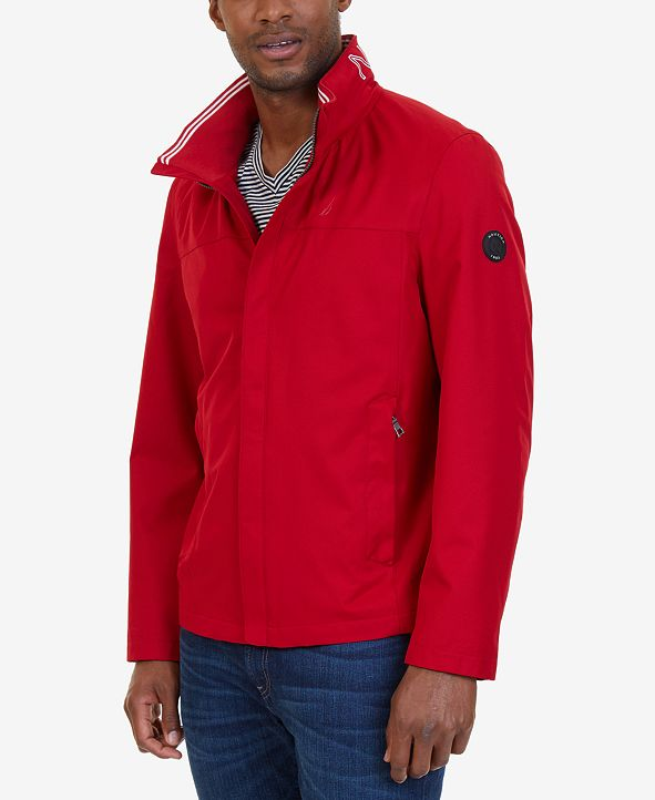 Nautica Men's Light Weight Hooded Bomber