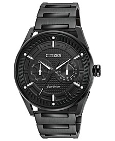 Drive from Citizen Eco-Drive Men's Black Stainless Steel Bracelet Watch 42mm
