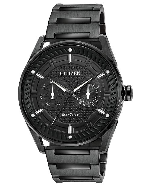 ... Citizen Drive from Citizen Eco-Drive Men s Black Stainless Steel  Bracelet Watch ... 31e8a6f4cf1a