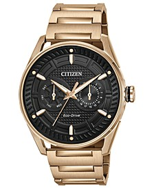 Drive from Citizen Eco-Drive Men's Rose Gold-Tone Stainless Steel Bracelet Watch 42mm