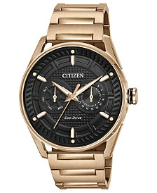 Citizen Drive from Citizen Eco-Drive Men's Rose Gold-Tone Stainless Steel Bracelet Watch 42mm