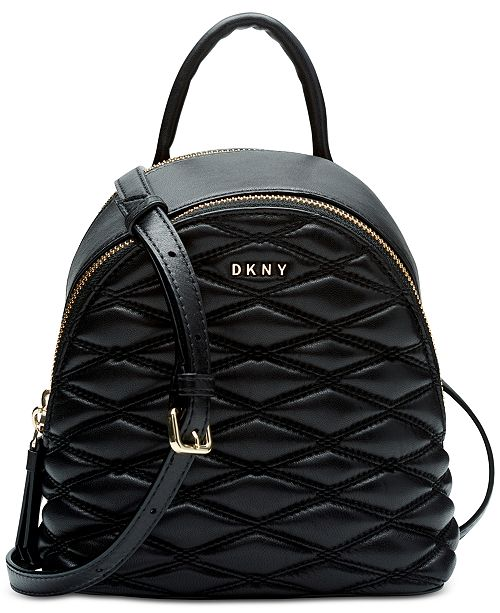 783267a4607e7a DKNY Lara Mini Quilted Leather Crossbody, Created for Macy's ...