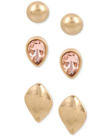 Kenneth Cole New York Gold-Tone 3-Pc. Set Stud Earrings