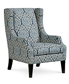 Saybridge Printed Fabric Accent Wing Chair