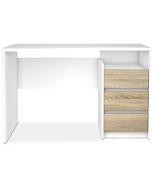 Mellan 3 Drawer Desk, Quick Ship