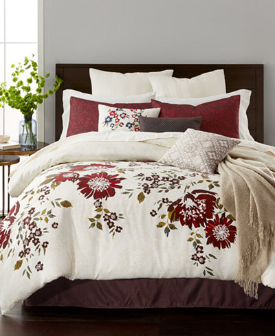 CLOSEOUT! Martha Stewart Collection Scarlet Meadow 10-Pc. Comforter Sets, Created for Macy's