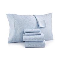 Sunham Sorrento Print 500-Thread Count 6-Pc. Queen Sheet Set (Blue)