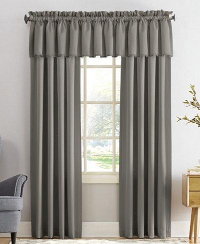 Sun zero grant solid room darkening poletop window for Room darkening window treatments ideas