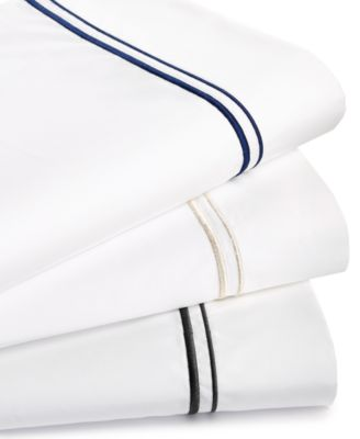 525 Thread Count Cotton Pair of Embroidered Standard Pillowcases, Created for Macy's