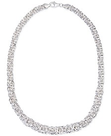 Byzantine Link Collar Necklace in Sterling Silver, Created for Macy's