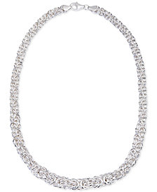 Giani Bernini Byzantine Link Collar Necklace in Sterling Silver, Created for Macy's