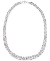 e5f69c90d2c Giani Bernini Byzantine Link Collar Necklace in Sterling Silver