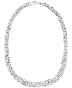 1ba9ac52c Giani Bernini Byzantine Link Collar Necklace in Sterling Silver, Created  for Macy's