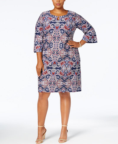 Charter Club Plus Size Printed Shift Dress Created For Macys