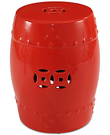 Suri Ceramic Garden Stool, Quick Ship