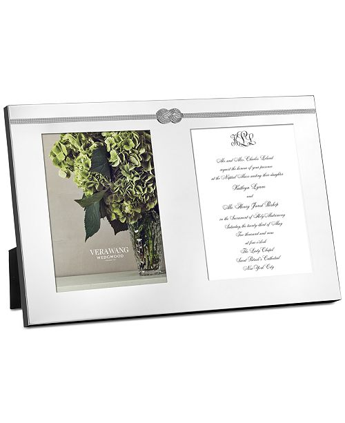 Vera Wang Wedgwood Infinity Double Invitation Frame Picture Frames