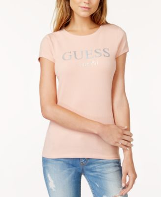 Image of GUESS Embossed Graphic T-Shirt