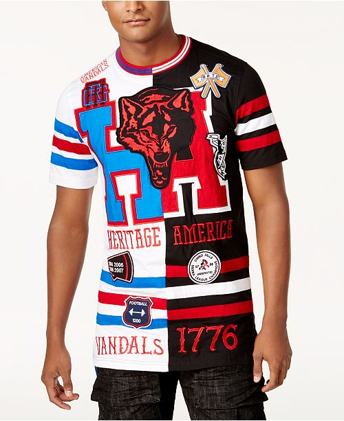 c66261d385c Heritage America Men's Colorblocked Graphic Print Jersey & Reviews ...