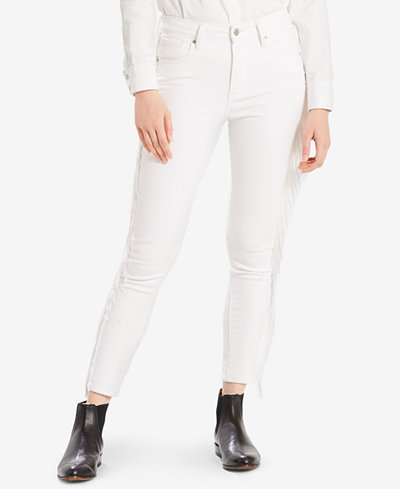 Levi's® Limited 721 Fringe-Trim Skinny Ankle Jeans, Created for Macy's