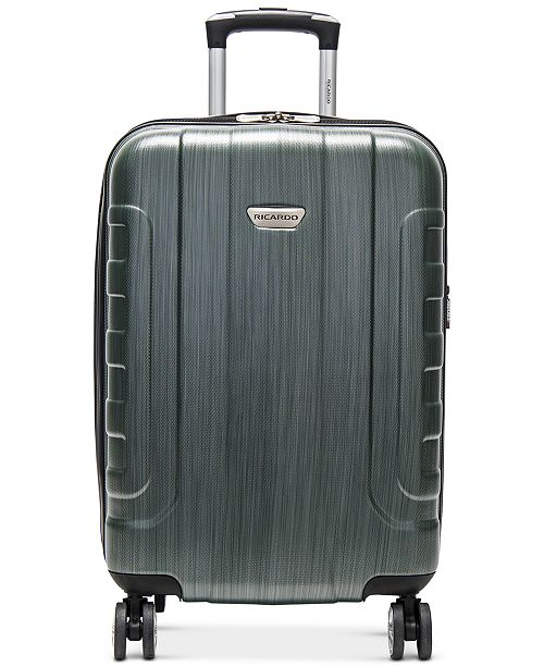 "Ricardo CLOSEOUT! Pacifica 21"" Hardside Carry-On Spinner Suitcase, Created for Macy's"