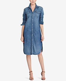 Polo Ralph Lauren Western Denim Cotton Shirtdress