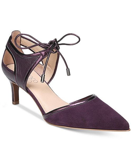 e2f3ac5f292 Franco Sarto Darlis Ankle-Tie Pointed-Toe Pumps   Reviews - Pumps ...