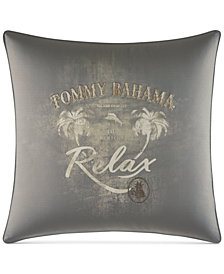 "Tommy Bahama Home Raffia Palms 20"" Square Decorative Pillow"