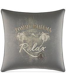 "Tommy Bahama Home Raffia Palms 20"" Square Decorative Pillow"