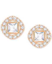 Swarovski Square Crystal Halo Stud Earrings