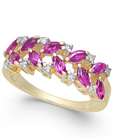 Ruby (1 ct. t.w.) & Diamond (1/6 ct. t.w.) Ring in 14k Gold